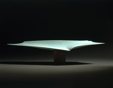 Fukami Sueharu (Japanese, born 1947). <em>Infinity II (Shinsō)</em>, 1994. Porcelain with blue-green (seihakuji) glaze, 11 x 47 5/8 x 9 1/2 in. (27.9 x 121 x 24.1 cm). Brooklyn Museum, Purchased with funds given by Alastair B. Martin, 1994.146a-b. © artist or artist's estate (Photo: Brooklyn Museum, 1994.146a-b_SL1.jpg)