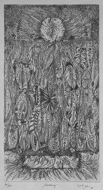 Charles Seliger (American, 1926-2009). <em>Awakening</em>, 1988. Etching on paper, sheet: 11 x 14 15/16 in. (27.9 x 37.9 cm). Brooklyn Museum, Gift of George M. Jaffin, 1994.172. © artist or artist's estate (Photo: Brooklyn Museum, 1994.172_bw.jpg)