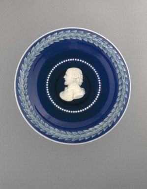 John Northwood (English, 1836-1902). <em>Shakespeare Tazza</em>, ca. 1882. Glass, 4 x 9 1/2 x 9 1/2 in. (10.2 x 24.1 x 24.1 cm). Brooklyn Museum, Gift of Dr. and Mrs. Theodore Kamholtz, 1994.203. Creative Commons-BY (Photo: Brooklyn Museum, 1994.203_SL1.jpg)