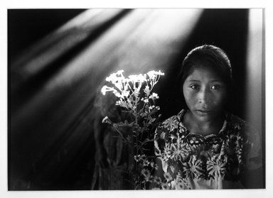 Flor de Maria Yanez Garduño (Mexican, born 1957). <em>Flores Santos, Guatemala</em>, 1987, printed 1992. Gelatin silver photograph, image: 9 x 12 1/4 in. (22.9 x 31.1 cm). Brooklyn Museum, Gift of Constance L. and Henry Christensen III, 1994.222.2. © artist or artist's estate (Photo: Brooklyn Museum, 1994.222.2_bw.jpg)