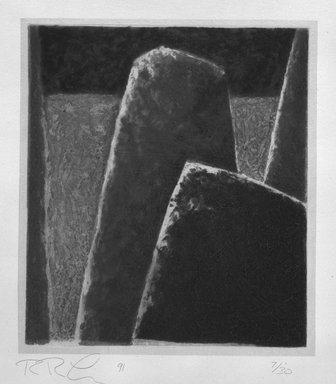 Rex Lau (American, born 1947). <em>Cape Fear</em>, 1991. Carborundum relief, Sheet: 25 13/16 x 19 5/16 in. (65.5 x 49 cm). Brooklyn Museum, Gift of Ting Shao Kuang, 1994.26. © artist or artist's estate (Photo: Brooklyn Museum, 1994.26_bw.jpg)