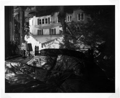Abelardo Morell (American, born Cuba, 1948). <em>Camera Obscura Image in Our Bedroom</em>, 1991. Gelatin silver photograph, sheet: 23 7/8 x 19 3/4 in. (60.7 x 50.2 cm). Brooklyn Museum, Purchased with funds given by the Horace W. Goldsmith Foundation, Harry Kahn, and Mrs. Carl L. Selden, 1994.30.3. © artist or artist's estate (Photo: Brooklyn Museum, 1994.30.3_bw.jpg)