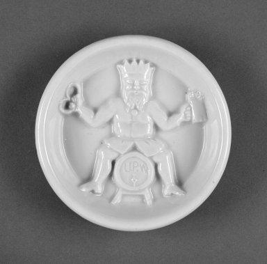 Union Porcelain Works (1863-ca. 1922). <em>Dish</em>, ca. 1885. Porcelain, 1 x 4 3/8 x 4 3/8 in. (2.5 x 11.1 x 11.1 cm). Brooklyn Museum, H. Randolph Lever Fund, 1994.3. Creative Commons-BY (Photo: Brooklyn Museum, 1994.3_view1_bw.jpg)