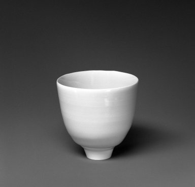 Fukami Sueharu (Japanese, born 1947). <em>Green Tea Cup</em>, 1994. Porcelain, 3 x 3 in. (7.6 x 7.6 cm). Brooklyn Museum, Gift of Mrs. Arthur Birnkrant, 1994.45. © artist or artist's estate (Photo: Brooklyn Museum, 1994.45_bw.jpg)