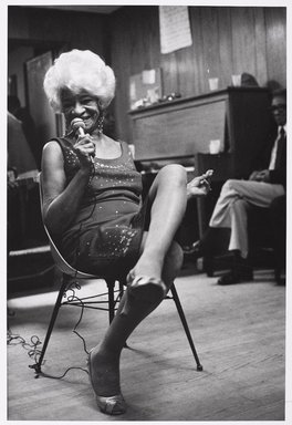 Martine Barrat (Algerian, born 1933). <em>Harlem, Mabel Albert, Singer, 75 Years Old</em>, 1982. Gelatin silver photograph, image: 16 3/4 x 11 1/4 in. (42.5 x 28.5 cm). Brooklyn Museum, Gift of the artist, 1994.6.5. © artist or artist's estate (Photo: Brooklyn Museum, 1994.6.5_PS9.jpg)