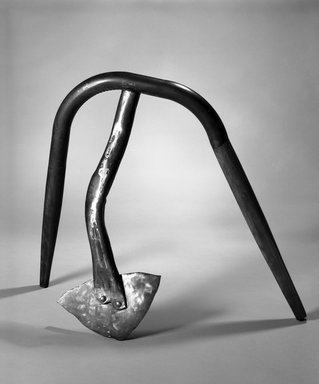 Lawrence Fane (American, 1933-2008). <em>Stonington</em>, 1992. Welded steel, wood, polychrome, 39 x 45 x 21in. (99.1 x 114.3 x 53.3cm). Brooklyn Museum, Gift of Bernard and Ninon Chaet, 1994.66. © artist or artist's estate (Photo: Brooklyn Museum, 1994.66_bw.jpg)