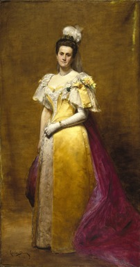 Charles-Émile-Auguste Carolus-Duran (French, 1838-1917). <em>Portrait of Emily Warren Roebling</em>, 1896. Oil on canvas, 89 × 47 1/2 in., 214 lb. (226.1 × 120.7 cm, 97.07kg). Brooklyn Museum, Gift of Paul Roebling, 1994.69.1 (Photo: Brooklyn Museum, 1994.69.1_SL1.jpg)