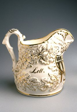 Charles Cartlidge & Co. (1848-1856). <em>Pitcher</em>, 1854-1856. Porcelain, 10 x 12 1/8 x 8 5/8 in. (25.4 x 30.8 x 21.9 cm). Brooklyn Museum, Gift of Mrs. John H. Livingston, 1995.108.2. Creative Commons-BY (Photo: Brooklyn Museum, 1995.108.2_reference_SL3.jpg)