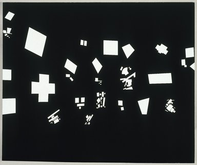 David Diao (American, born in China, 1943). <em>Black and White</em>, 1986. Acrylic on canvas, 90 x 108 in. (228.6 x 274.3cm). Brooklyn Museum, Gift of Barbara and Eugene Schwartz, 1995.114. © artist or artist's estate (Photo: Brooklyn Museum, 1995.114_SL1.jpg)