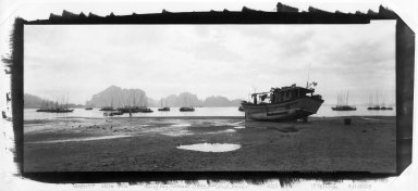 Lois Conner (American, born 1951). <em>Halong Bay, Vietnam</em>, 1993. Platinum photograph, image: 7 x 17 in. (17.8 x 43.2 cm). Brooklyn Museum, Purchased with funds given by the Horace W. Goldsmith Foundation, Ardian Gill and the Coler Foundation, 1995.123. © artist or artist's estate (Photo: Brooklyn Museum, 1995.123_bw.jpg)