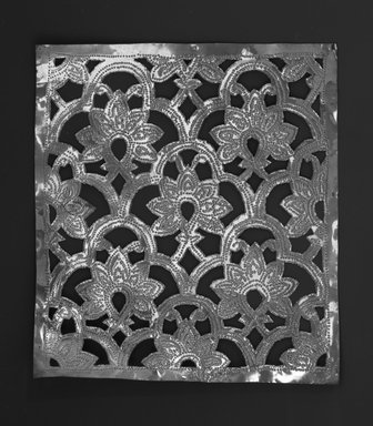 The Ahmedabad Workshops for Lockwood de Forest. <em>Panel with design of Flower and Trefoil, No. 24</em>, ca. 1881-1900. Brass, height: 8 in. Brooklyn Museum, Alfred T. and Caroline S. Zoebisch Fund, 1995.13.5. Creative Commons-BY (Photo: Brooklyn Museum, 1995.13.5_bw.jpg)