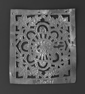 The Ahmedabad Workshops for Lockwood de Forest. <em>Panel with design of Peacock, No. 187</em>, ca. 1881-1900. Brass, height: 5 1/4 in. Brooklyn Museum, Alfred T. and Caroline S. Zoebisch Fund, 1995.13.9. Creative Commons-BY (Photo: Brooklyn Museum, 1995.13.9_bw.jpg)