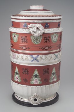 Union Porcelain Works (1863-ca. 1922). <em>Water Filter</em>, Patented November 28, 1882. Porcelain, Overall: 20 x 12 1/2 x 11 1/2 in. (50.8 x 31.8 x 29.2 cm). Brooklyn Museum, Bequest of Marie Bernice Bitzer, by exchange, 1995.143.1a-c. Creative Commons-BY (Photo: Brooklyn Museum, 1995.143.1a-c.jpg)