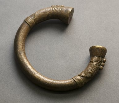 Tuareg. <em>Bracelet</em>, 20th century. Copper alloy, 3 3/4 x 3 5/8 x 3/4 in. Brooklyn Museum, Gift of Drs. John I. and Nicole Dintenfass, 1995.172.4. Creative Commons-BY (Photo: Brooklyn Museum, 1995.172.4_front_PS10.jpg)