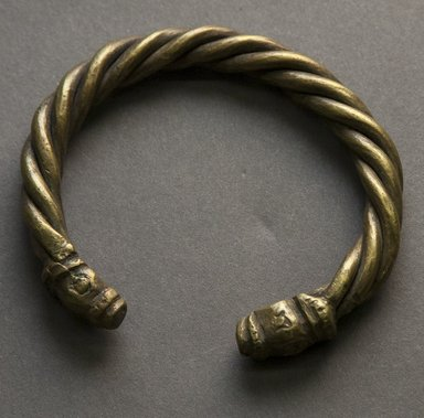 Tuareg. <em>Bracelet</em>, 20th century. Copper alloy, 3 1/4 x 2 7/8 x 3/4 in. Brooklyn Museum, Gift of Drs. John I. and Nicole Dintenfass, 1995.172.6. Creative Commons-BY (Photo: Brooklyn Museum, 1995.172.6_front_PS10.jpg)