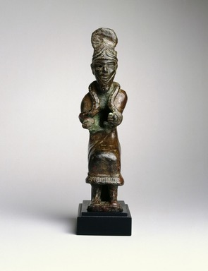 Ancient Near Eastern. <em>The Sun God Shamash</em>, ca. 1700-1600 B.C.E. Copper, 5 5/16 in. (13.5 cm). Brooklyn Museum, Purchased with funds given by Shelby White, Ella C. Woodward Memorial Fund, and  Charles Edwin Wilbour Fund, 1995.27. Creative Commons-BY (Photo: Brooklyn Museum, 1995.27_SL1.jpg)