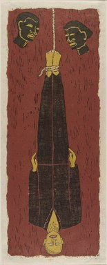 Alison Saar (American, born 1956). <em>Ulysses</em>, 1994. Woodcut on paper, 50 9/16 x 19 15/16 in. (128.4 x 50.6cm). Brooklyn Museum, Robert A. Levinson Fund, 1995.3. © artist or artist's estate (Photo: Brooklyn Museum, 1995.3_PS9.jpg)