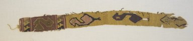 Chancay. <em>Textile Fragment, Undetermined</em>, 1532-1700 (?). Cotton, camelid fiber, (36.0 x 3.5 cm). Brooklyn Museum, Gift of Kay Hodnett Nunez, 1995.47.59. Creative Commons-BY (Photo: Brooklyn Museum, 1995.47.59_front_PS5.jpg)