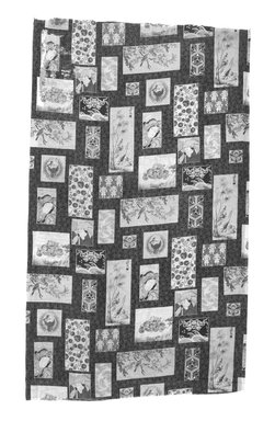 <em>Textile</em>, last quarter of 19th century. Printed linen, 43 x 25 in. (109.2 x 63.5 cm). Brooklyn Museum, Designated Purchase Fund, 1995.52. Creative Commons-BY (Photo: Brooklyn Museum, 1995.52_bw.jpg)
