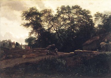 Constant Troyon (French, 1810-1865). <em>The Edge of the Forest</em>, late 1830s. Oil on canvas, 12 13/16 x 18 3/16 x 1/2 in. (32.5 x 46.1 x 1.3 cm). Brooklyn Museum, Gift of Mr. and Mrs. Horace H. Wilson, 1995.64 (Photo: Brooklyn Museum, 1995.64.jpg)