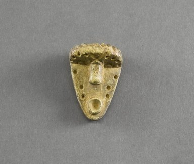 Bassa. <em>Personal Miniature Mask</em>, 20th century. Stone, 2 5/8 x 1 3/4 in. (6.7 x 4.4 cm). Brooklyn Museum, Gift of Blake Robinson, 1995.7.14. Creative Commons-BY (Photo: Brooklyn Museum, 1995.7.14_front_PS5.jpg)