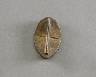 Dan. <em>Personal Miniature Mask</em>, 20th century. Wood, 2 1/2 x 1 7/8 x 3/4in. (6.4 x 4.8 x 1.9cm). Brooklyn Museum, Gift of Blake Robinson, 1995.7.22. Creative Commons-BY (Photo: Brooklyn Museum, 1995.7.22_front_PS5.jpg)