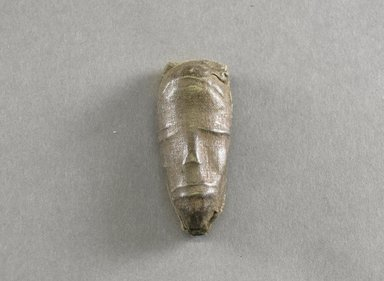 Dan. <em>Personal Miniature Mask</em>, 20th century. Wood, cloth, fiber, 3 x 1 1/4 x 3/4in. (7.6 x 3.2 x 1.9cm). Brooklyn Museum, Gift of Blake Robinson, 1995.7.46. Creative Commons-BY (Photo: Brooklyn Museum, 1995.7.46_front_PS5.jpg)