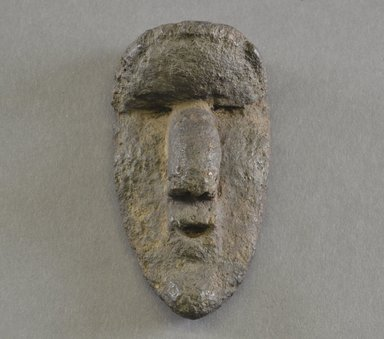 Bassa. <em>Personal Miniature Mask</em>, 20th century. Stone, 4 1/2 x 2 3/8 x 1 1/2 in. (11.4 x 6 x 3.8 cm). Brooklyn Museum, Gift of Blake Robinson, 1995.7.78. Creative Commons-BY (Photo: Brooklyn Museum, 1995.7.78_front_PS5.jpg)