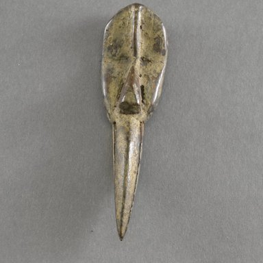 Dan. <em>Personal Miniature Mask</em>, 20th century. Wood, 5 3/8 x 1 1/2 in.  (13.7 x 3.8 cm). Brooklyn Museum, Gift of Blake Robinson, 1995.7.7. Creative Commons-BY (Photo: Brooklyn Museum, 1995.7.7_front_PS5.jpg)