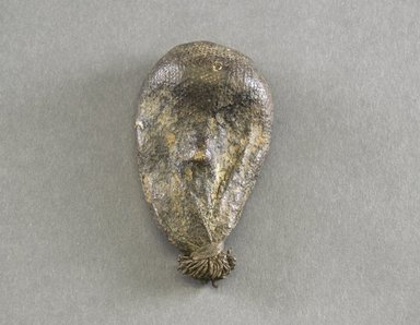 Dan. <em>Personal Miniature Mask</em>, 20th century. Wood, fabric, clay?, 3 3/4 x 2 1/8in. (9.5 x 5.4cm). Brooklyn Museum, Gift of Blake Robinson, 1995.7.8. Creative Commons-BY (Photo: Brooklyn Museum, 1995.7.8_front_PS5.jpg)