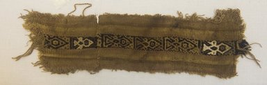 <em>Poncho, Fragment</em>, 1400-1532. Cotton, camelid fiber, (9.5 x 28.5 cm). Brooklyn Museum, Gift of Kay Hodnett Nunez, 1995.84.13. Creative Commons-BY (Photo: Brooklyn Museum, 1995.84.13_front_PS5.jpg)