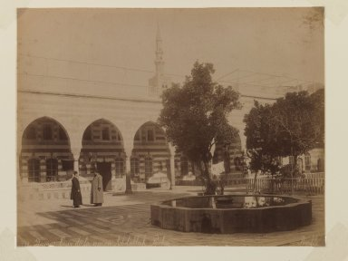 Felix Bonfils (French, 1831-1885). <em>Damascus- Abdallah- Pasha House</em>, after 1867. Albumen silver photograph, sheet: height: 11 in. Brooklyn Museum, Purchased with funds given by Dr. and Mrs. Shahrokh Ahkami and an anonymous donor, 1995.86.13 (Photo: Brooklyn Museum, 1995.86.13_IMLS_PS3.jpg)