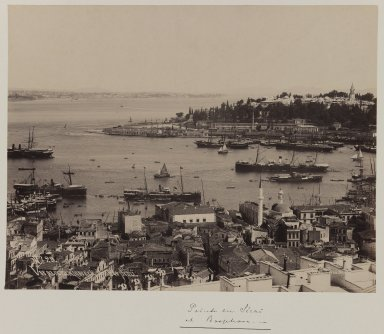 Pascal Sébah (Turkish, 1823-1886). <em>Panoramic view of the Topkapi Saray Palace (section 1)</em>, ca. 1860-1880. Gelatin silver photograph, 12 x 10in. (30.5 x 25.4cm). Brooklyn Museum, Purchased with funds given by Dr. and Mrs. Shahrokh Ahkami and an anonymous donor, 1995.86.1 (Photo: Brooklyn Museum, 1995.86.1_IMLS_PS3.jpg)