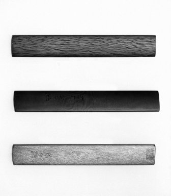 "Goto Etsujo (Japanese). <em>Kozuka with ""Nanako"" Ground</em>, 18th century. Shakudo, shibuichi/silver, gold, length: 3 3/4 in. Brooklyn Museum, Gift of the J. Aron Charitable Foundation, Inc. in memory of Jack R. Aron, 1995.9.18. Creative Commons-BY (Photo: , 1995.9.16_1995.9.17_1995.9.18_back_bw.jpg)"