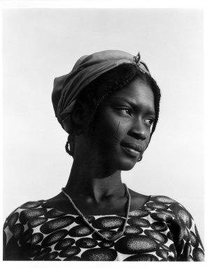 Margo Davis (American, born 1944). <em>Ladi, Nigerian Girl, Nigeria</em>, 1981. Gelatin silver photograph, image: 13 1/8 x 10 1/2 in. (33.3 x 26.7 cm). Brooklyn Museum, Gift of Lucanna Grey, 1996.108.1. © artist or artist's estate (Photo: Brooklyn Museum, 1996.108.1_bw.jpg)