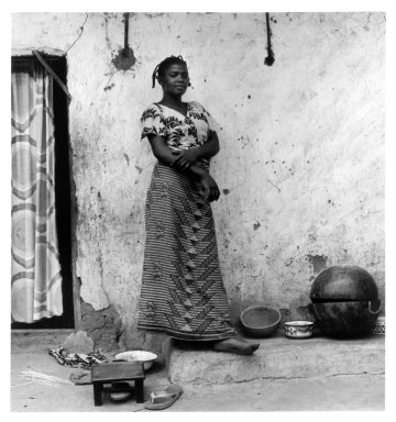 Margo Davis (American, born 1944). <em>Lami, Fulani Woman, Nigeria</em>, 1980. Gelatin silver photograph, image: 10 1/4 x 9 1/2 in. (26 x 24.1 cm). Brooklyn Museum, Gift of Lucanna Grey, 1996.108.2. © artist or artist's estate (Photo: Brooklyn Museum, 1996.108.2_bw.jpg)