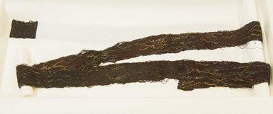 Paracas Ocucaje. <em>Belt or Headband</em>, 200-600. Camelid fiber, 2 15/16 x 99 3/16 in. (7.5 x 252 cm). Brooklyn Museum, Gift of Nobuko Kajitani, 1996.115.4. Creative Commons-BY (Photo: Brooklyn Museum, 1996.115.4_front_PS5.jpg)