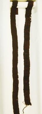 Paracas Ocucaje. <em>Belt or Headband</em>, 200-600. Camelid fiber, a: 1 15/16 x 29 5/16 in. (5.0 x 74.5 cm). Brooklyn Museum, Gift of Nobuko Kajitani, 1996.115.5. Creative Commons-BY (Photo: Brooklyn Museum, 1996.115.5a-b_front_PS5.jpg)