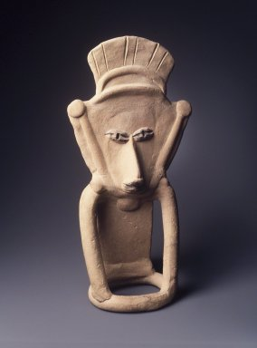 <em>Flat Figure</em>, ca. 300-100 B.C.E. Clay with black resin, 12 3/4 x 6 3/4 x 3 1/8 in. Brooklyn Museum, Bequest of Mrs. Carl L. Selden, 1996.116.15. Creative Commons-BY (Photo: Brooklyn Museum, 1996.116.15_transpc004.jpg)