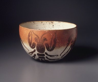<em>Orange and Cream Bowl</em>, ca. 900-1200. Ceramic, 4 x 6 1/8 x 6 1/8 in. (10.2 x 15.6 x 15.6 cm). Brooklyn Museum, Bequest of Mrs. Carl L. Selden, 1996.116.18. Creative Commons-BY (Photo: Brooklyn Museum, 1996.116.18_transpc002.jpg)