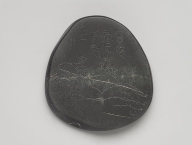 Wu Changshuo (Chinese, 1844-1927). <em>Inkstone with a Design of Plum Blossoms and Inscription by Wu Changshi</em>, 1909. Stone relief, 1 1/4 x 7 3/4 x 7 3/4 in. (3.2 x 19.7 x 19.7 cm). Brooklyn Museum, Purchased with funds given by Dr. and Mrs. Richard A. Dickes and Roger and Carolyn in memory of Jeffrey Frank Wacks and Caroline A.L. Pratt Fund, 1996.119. Creative Commons-BY (Photo: , 1996.119_front_PS9.jpg)