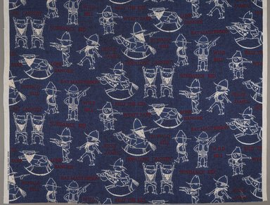 Riegel Textile Corporation (founded 1905). <em>Textile</em>, ca. 1970. Cotton, 228 1/2 x 48 in. (580.3 x 121.9 cm). Brooklyn Museum, Gift of Catherine Kurland and Lori Zabar, 1996.127.2 (Photo: Brooklyn Museum, 1996.127.2_detail_PS9.jpg)