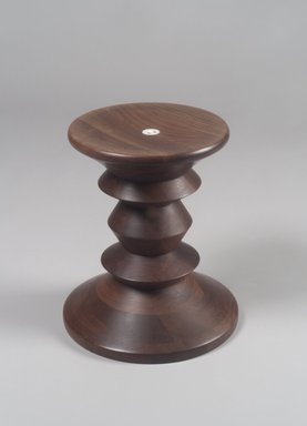 Ray Eames (Bernice Alexandra Kaiser) (American, 1912-1988). <em>Turned Stool</em>, ca. 1950. Walnut, 15 x 13 x 13in. (38.1 x 33 x 33cm). Brooklyn Museum, Bequest of Mrs. Carl L. Selden, 1996.142.29. Creative Commons-BY (Photo: Brooklyn Museum, 1996.142.29.jpg)