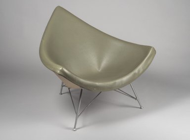 "George Nelson (American, 1908-1986). <em>""Coconut"" Chair</em>, 1958. Fiberglass, leather, aluminum, 34 1/4 x 40 3/4 x 34 in. (87 x 103.5 x 86.4 cm). Brooklyn Museum, Bequest of Mrs. Carl L. Selden, 1996.142.42. Creative Commons-BY (Photo: Brooklyn Museum, 1996.142.42.jpg)"
