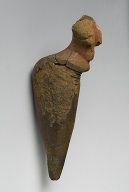 Nubian. <em>Female Figurine</em>, ca. 3500-3100 B.C.E. Terracotta, pigment, 5 1/2 x 1 7/16 x 1 9/16 in. (14 x 3.7 x 4 cm). Brooklyn Museum, Bequest of Mrs. Carl L. Selden in honor of Bernard V. Bothmer, 1996.146.1. Creative Commons-BY (Photo: Brooklyn Museum, 1996.146.1_profile_PS2.jpg)