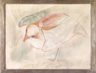Morris Graves (American, 1910-2001). <em>Rainbow Bird Bathing</em>, 1952. Pastel, 18 3/4 x 25 in. Brooklyn Museum, Bequest of Mrs. Carl L. Selden, 1996.150.14. © artist or artist's estate (Photo: Brooklyn Museum, 1996.150.14_transpc004.jpg)