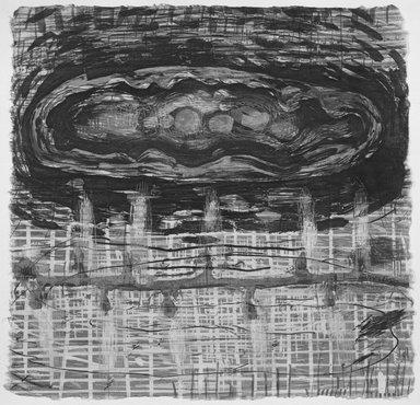 Karen Kunc. <em>Pleached Pearls</em>, 1995. Glass intaglio with wood relief, 11 1/8 x 11 1/8 in. (28.3 x 28.3 cm). Brooklyn Museum, Emily Winthrop Miles Fund, 1996.16.3. © artist or artist's estate (Photo: Brooklyn Museum, 1996.16.3_bw.jpg)