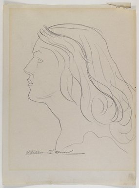 William Zorach (American, born Lithuania, 1887-1966). <em>Profile of a Woman's Head</em>, n.d. Graphite on cream, medium-weight, smooth wove paper, Sheet: 11 7/8 x 8 7/8 in. (30.2 x 22.5 cm). Brooklyn Museum, Gift from the collection of Estelle and Jay Sam Unger, 1996.161.3. © artist or artist's estate (Photo: Brooklyn Museum, 1996.161.3_IMLS_PS4.jpg)