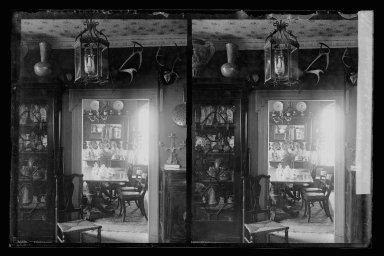 Daniel Berry Austin (American, born 1863, active 1899-1909). <em>Rem Lefferts House, Interior, Fulton Street opposite Arlington Place near Bedford, Brooklyn</em>, ca. 1899-1909. Gelatin silver glass dry plate negative Brooklyn Museum, Brooklyn Museum/Brooklyn Public Library, Brooklyn Collection, 1996.164.1-11 (Photo: Brooklyn Museum, 1996.164.1-11_IMLS_SL2.jpg)