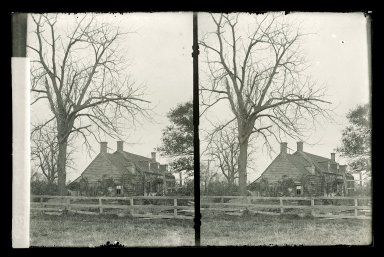 Daniel Berry Austin (American, born 1863, active 1899-1909). <em>Bergen's House, Rear, Bergen Beach, Brooklyn</em>, ca. 1899-1909. Gelatin silver glass dry plate negative Brooklyn Museum, Brooklyn Museum/Brooklyn Public Library, Brooklyn Collection, 1996.164.1-128 (Photo: Brooklyn Museum, 1996.164.1-128_glass_SL1.jpg)